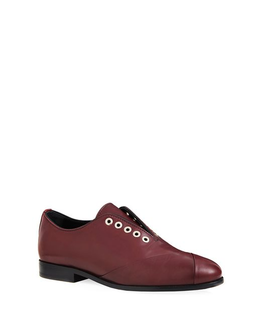 lanvin crossover derby loafer women