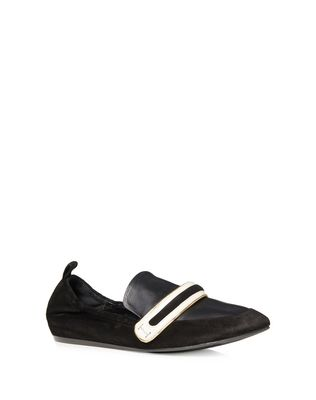 LANVIN SUPPLE DUAL MATERIAL LOAFER Loafers D f
