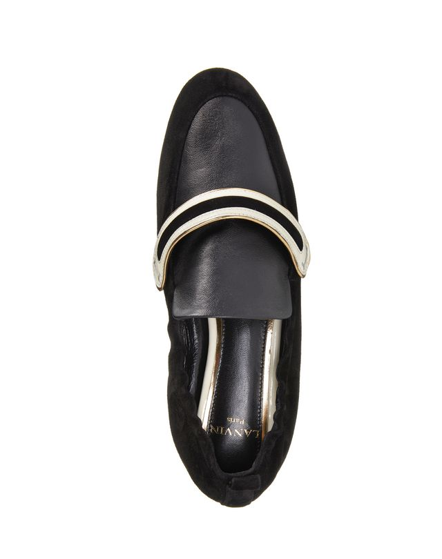 LANVIN SUPPLE DUAL MATERIAL LOAFER Loafers D r