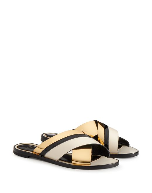 lanvin mirror crossover sandal  women