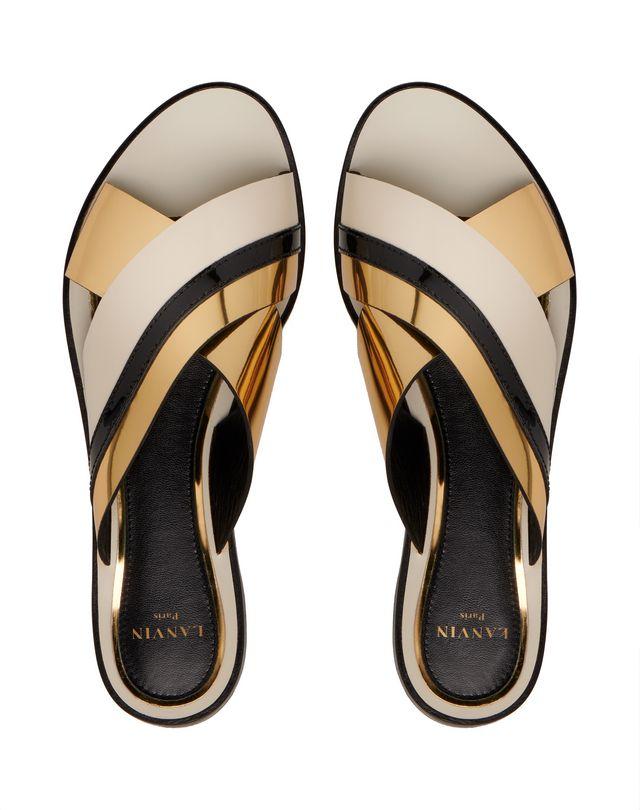 LANVIN MIRROR CROSSOVER SANDAL Sandals D a