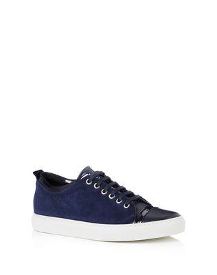 LANVIN Sneakers D GOATSKIN LEATHER SNEAKER F