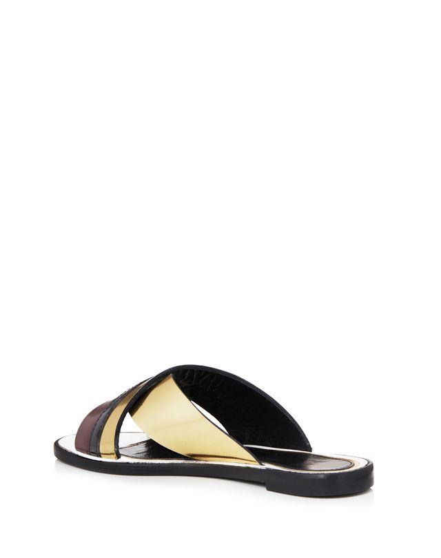 LANVIN MIRROR CROSSOVER SANDAL Sandals D d