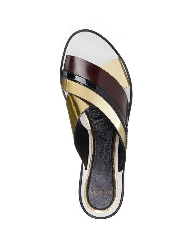 LANVIN MIRROR CROSSOVER SANDAL Sandals D r