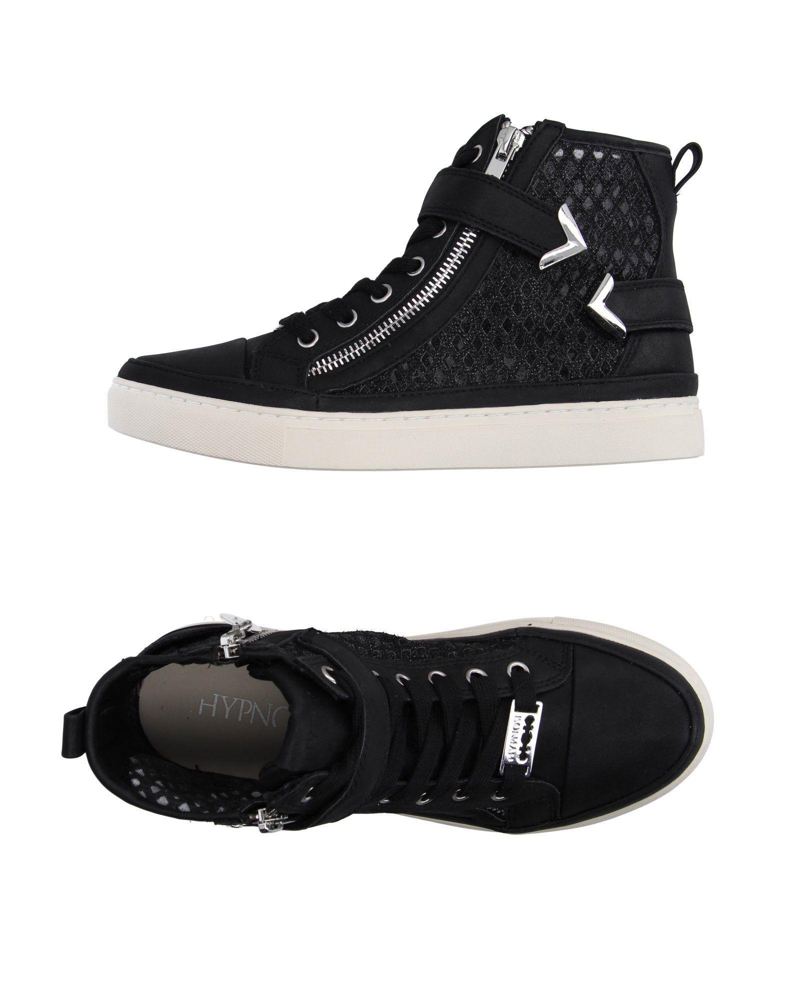 《送料無料》HYPNOSI レディース スニーカー&テニスシューズ(ハイカット) ブラック 36 紡績繊維