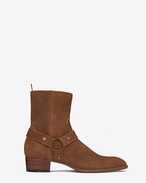 SAINT LAURENT Boots U classic wyatt 40 harness boot in nut suede f