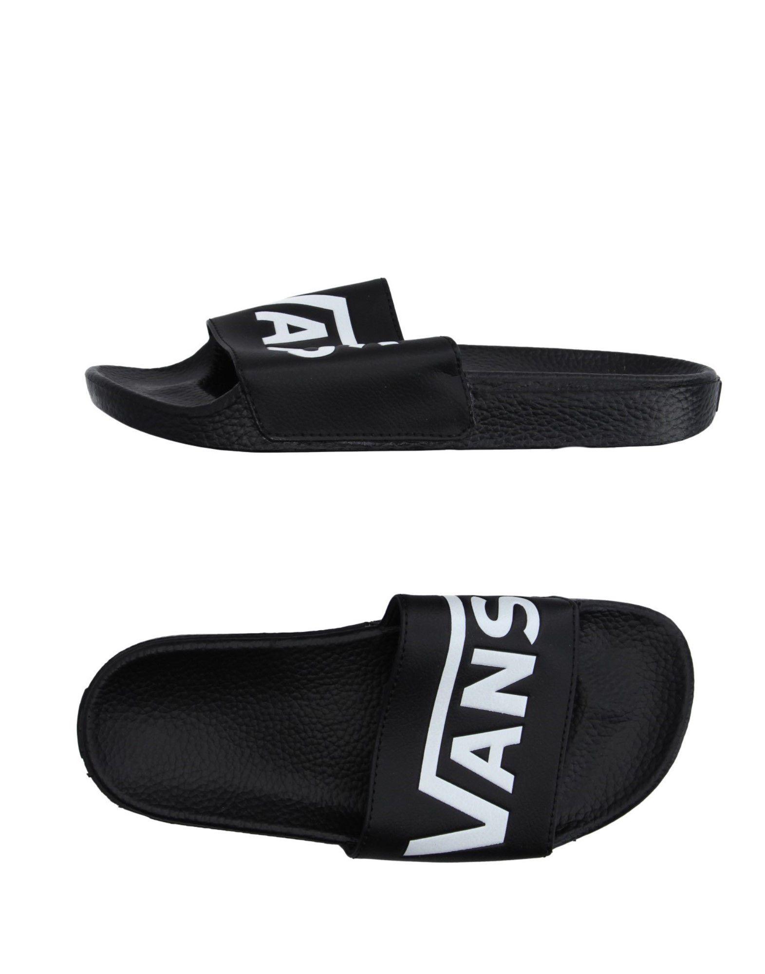 《送料無料》VANS レディース サンダル ブラック 5 紡績繊維