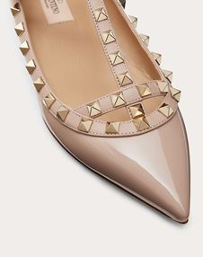 Patent Rockstud Caged Ballet Flat