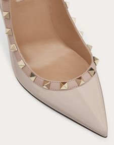 Rockstud Patent Leather Pump 100  mm