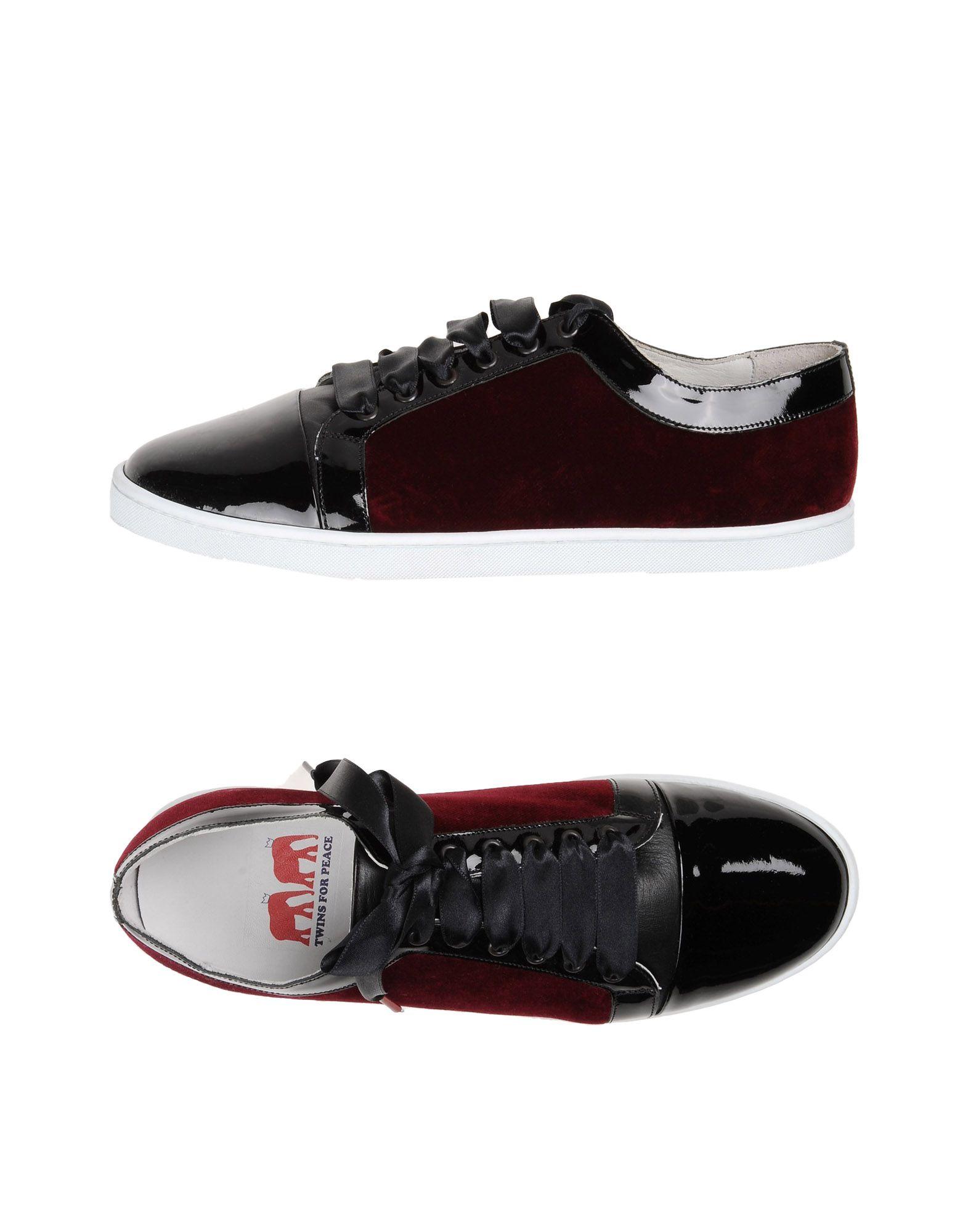TWINS FOR PEACE Sneakers in Maroon