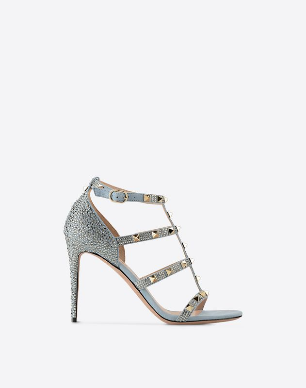 5f8b171b0477 Rockstud sandal with crystals for Woman