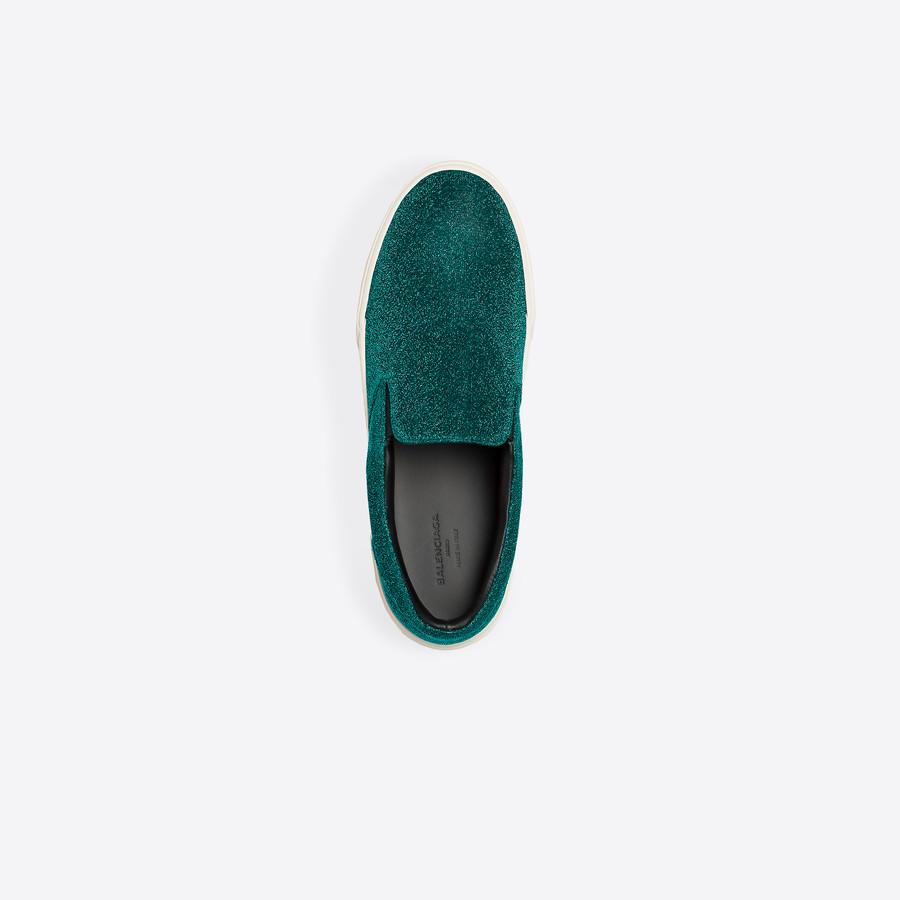 BALENCIAGA Slip-on Lurex Multimaterial Sneakers D e