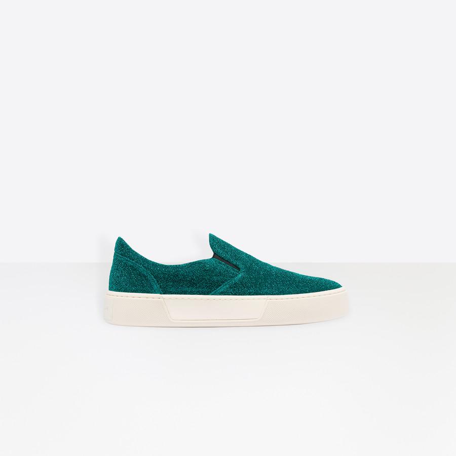 BALENCIAGA Slip-on Lurex Multimaterial Sneakers D f