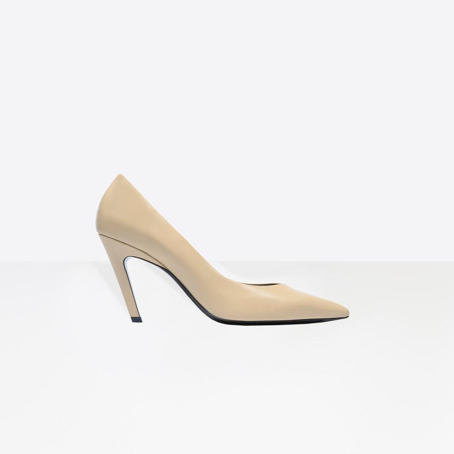 BALENCIAGA Slash Heel Pumps Slash Shoes D f