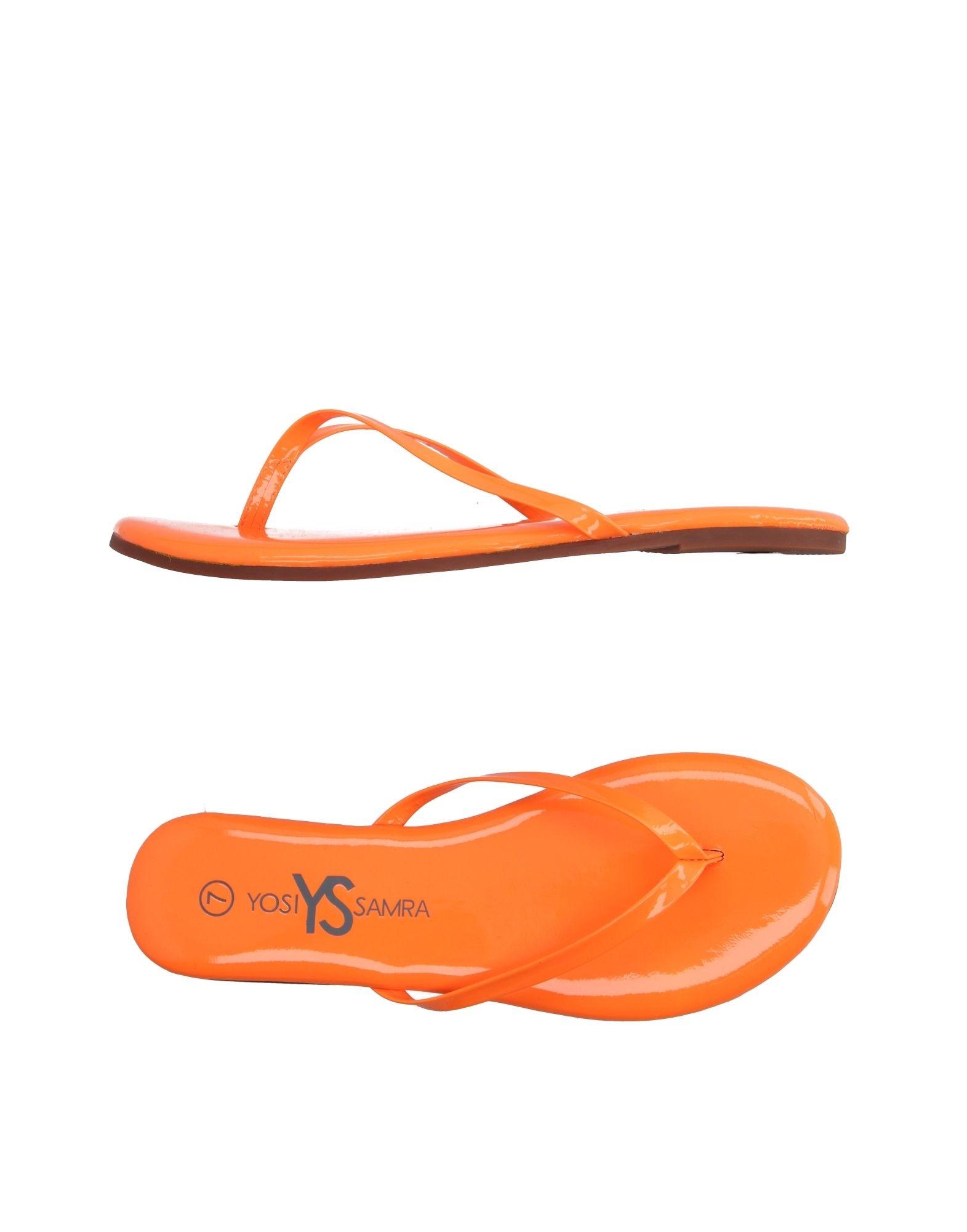 YOSI SAMRA レディース トングサンダル オレンジ 6 紡績繊維