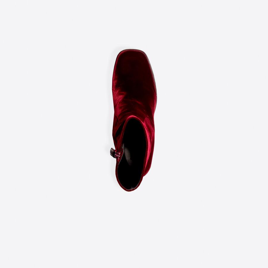 BALENCIAGA Velvet Platform Booties Other Shoes Man e