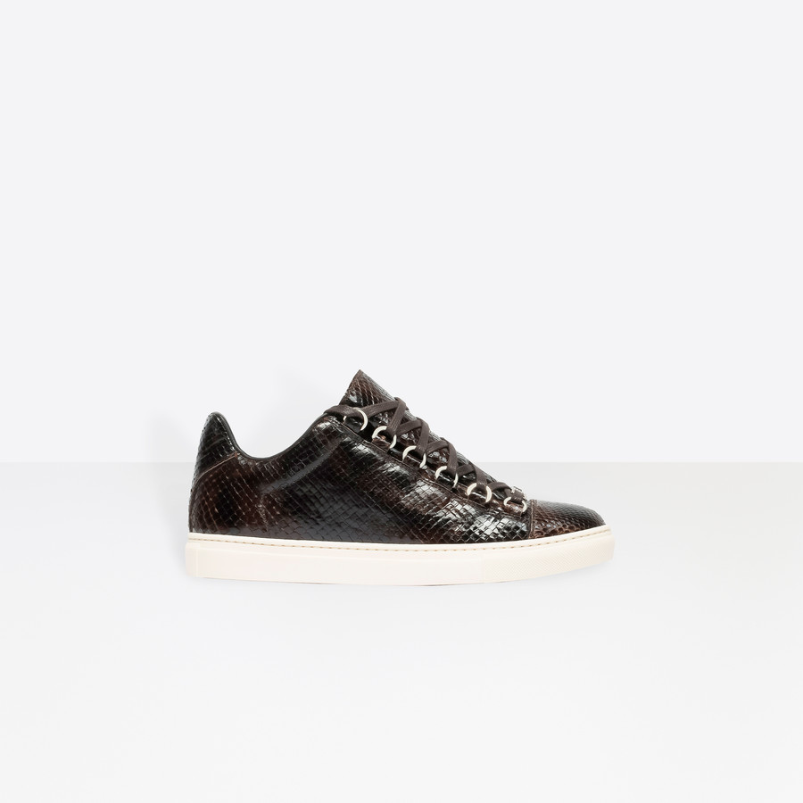 BALENCIAGA Python Low Sneakers Sneakers Shoes D f