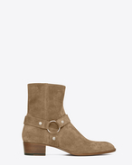 SAINT LAURENT Boots U classic wyatt 40 harness boot in light tobacco suede f