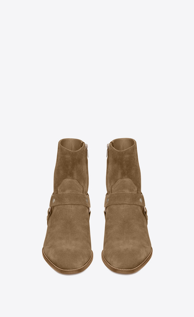 SAINT LAURENT Boots U classic wyatt 40 harness boot in light tobacco suede b_V4