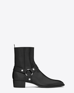 SAINT LAURENT Boots U classic wyatt 40 harness boot in black leather f