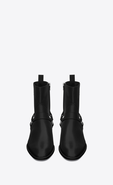 SAINT LAURENT Boots Man classic wyatt 40 harness boot in black leather b_V4