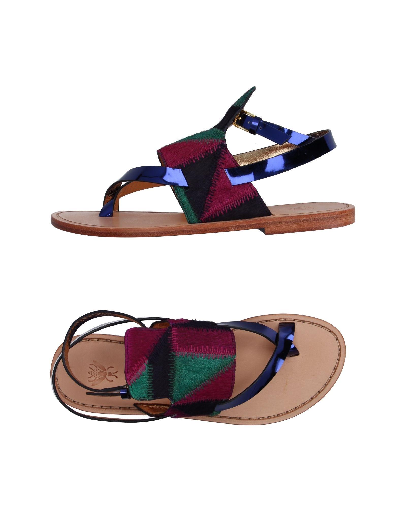 SANCHITA Flip Flops in Garnet