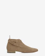 SAINT LAURENT Bottes U bottines basse jodhpur london 20 en suède beige f
