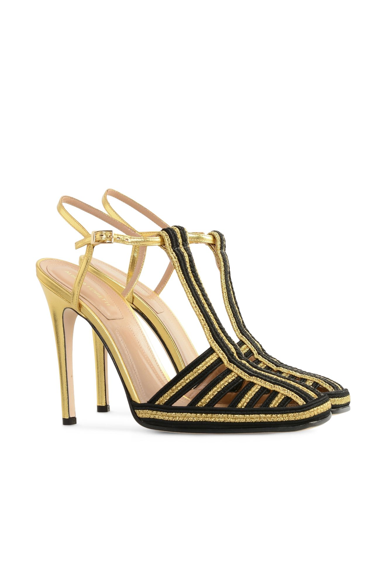 BLACK-GOLD SANDAL