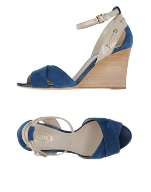 TOD´S Damen Sandale Farbe Dunkelblau Größe 9