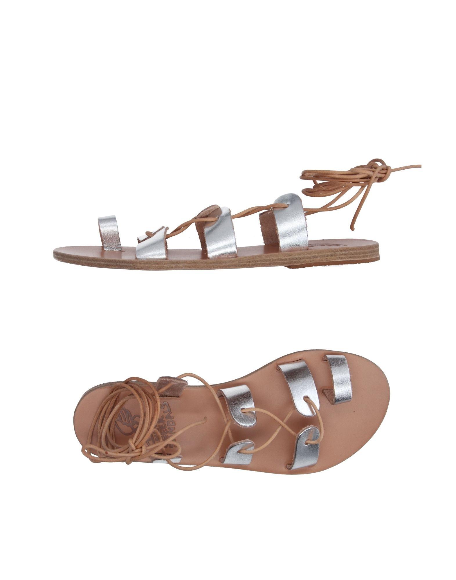 《送料無料》ANCIENT GREEK SANDALS レディース トングサンダル シルバー 41 革