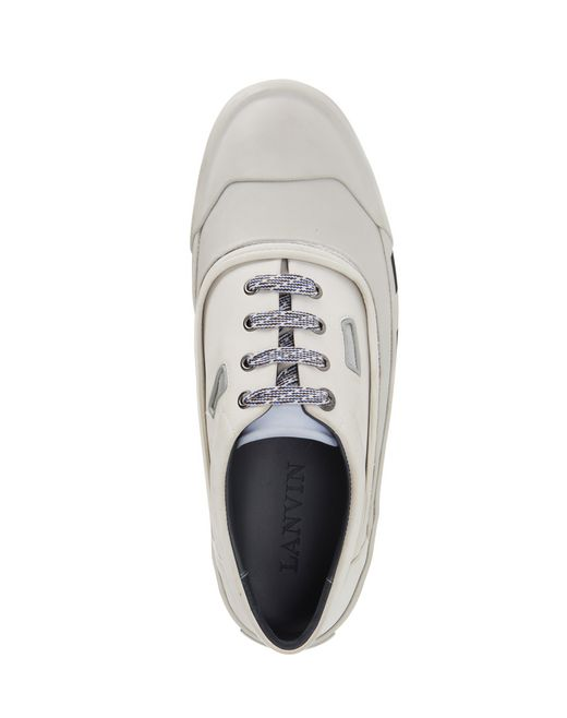 lanvin vulcanized calfskin sneaker  men