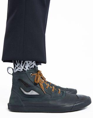 LANVIN VULCANIZED CALFSKIN MID-TOP SNEAKER Sneakers U e