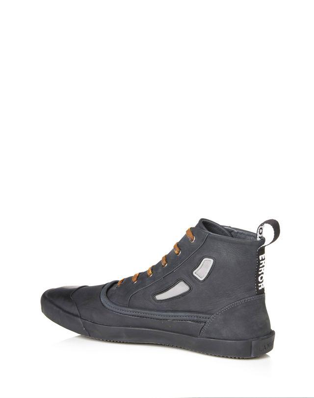 LANVIN VULCANIZED CALFSKIN MID-TOP SNEAKER Sneakers U d