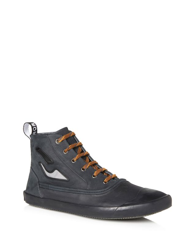 LANVIN VULCANIZED CALFSKIN MID-TOP SNEAKER Sneakers U f