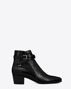 SAINT LAURENT Flat Booties D Signature BLAKE 40 Jodhpur Boot in Black patent leather f