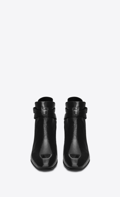 SAINT LAURENT Flat Booties D Signature BLAKE 40 Jodhpur Boot in Black patent leather b_V4
