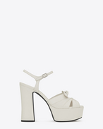 SAINT LAURENT Candy D CANDY 80 Bow Sandal in Dove White f