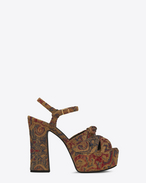 CANDY 80 Bow Sandal in Saffron Red Marrakech Woven Fabric