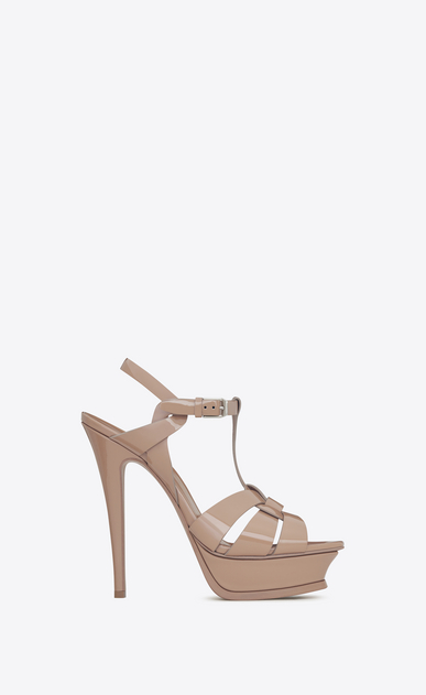 tribute 105 sandal in beige rosé patent leather