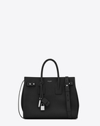SAINT LAURENT Sac De Jour Supple D small sac de jour souple bag nera in pelle martellata f