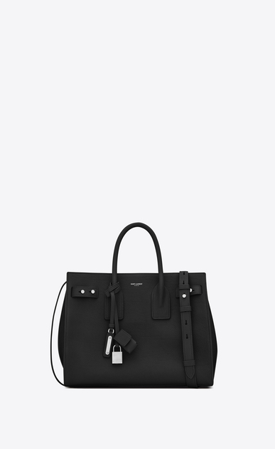 SAINT LAURENT Sac De Jour Supple D small sac de jour souple bag in black grained leather a_V4
