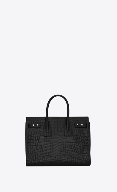 SAINT LAURENT Sac De Jour Supple D Small SAC DE JOUR Souple Bag in Black crocodile embossed leather b_V4