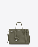 SAINT LAURENT Sac De Jour Supple D small sac de jour souple bag in military khaki grained leather f