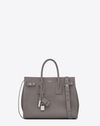 SAINT LAURENT Sac De Jour Supple D nano sac de jour souple bag color grigio nebbia in pelle martellata f