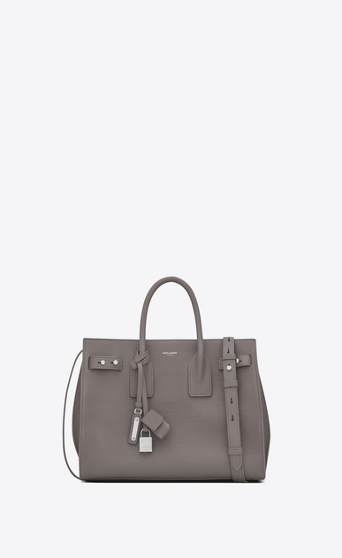 SAINT LAURENT Sac De Jour Supple Damen Kleine, weiche Sac de Jour-Tasche in Nebelgrau a_V4