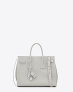 SAINT LAURENT Sac De Jour Supple D nano sac de jour souple bag bianco gesso in pelle martellata f