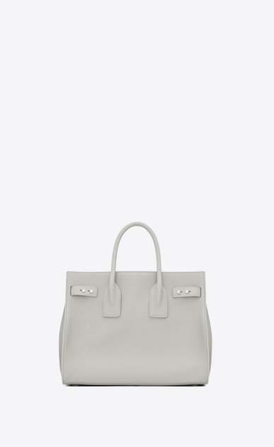 SAINT LAURENT Sac De Jour Supple D small sac de jour souple bag in chalk white grained leather b_V4