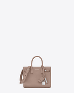 SAINT LAURENT Sac De Jour Supple D nano sac de jour souple bag color rosa in pelle martellata f