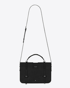 SAINT LAURENT Charlotte D large charlotte messenger bag in black leather f