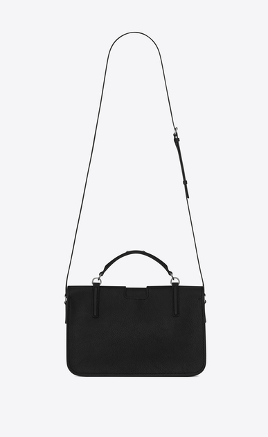 SAINT LAURENT Charlotte D large charlotte messenger bag in black leather b_V4